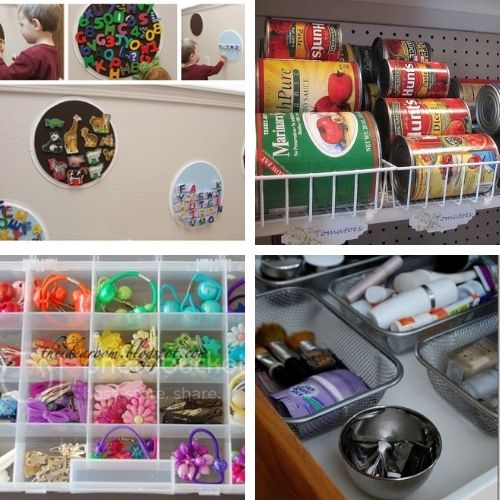 DIY Dollar Store Organizers- If you want to organize your home on a budget, then you'll love these DIY dollar store organization solutions! | #homeOrganization #organizingTips #organize #dollarStoreOrganization #ACultivatedNest