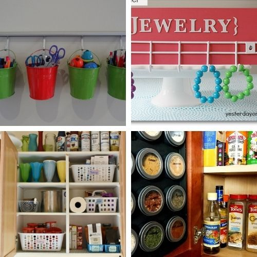 DIY Dollar Store Organizing Hacks- If you want to organize your home on a budget, then you'll love these DIY dollar store organization solutions! | #homeOrganization #organizingTips #organize #dollarStoreOrganization #ACultivatedNest