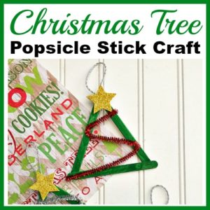 Christmas Tree Popsicle Stick Craft- DIY Christmas Ornament