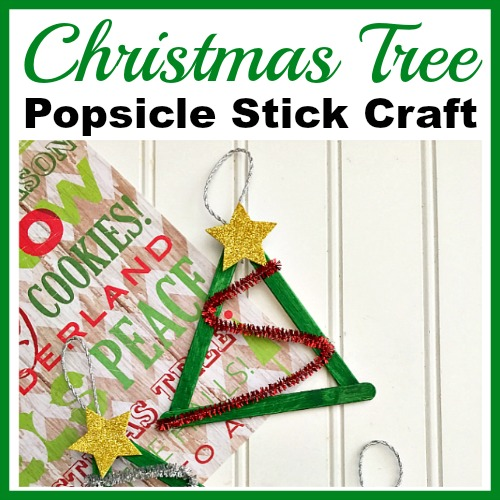 Christmas Tree Popsicle Stick Craft