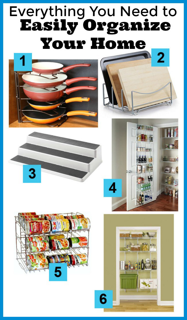 Everything You Need to Easily Organize Your Home- Wouldn't it be wonderful if your home was neat and organized, and it didn't take much effort to get it that way? Here's how to easily organize your home! | home organization, organizing ideas, garage organization, pantry organization, bedroom organization, kitchen organization, living room organization, kids' toys organization, home office organization