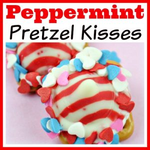 Peppermint Pretzel Kisses