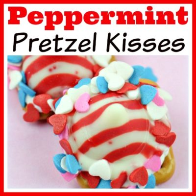 Peppermint Pretzel Kisses