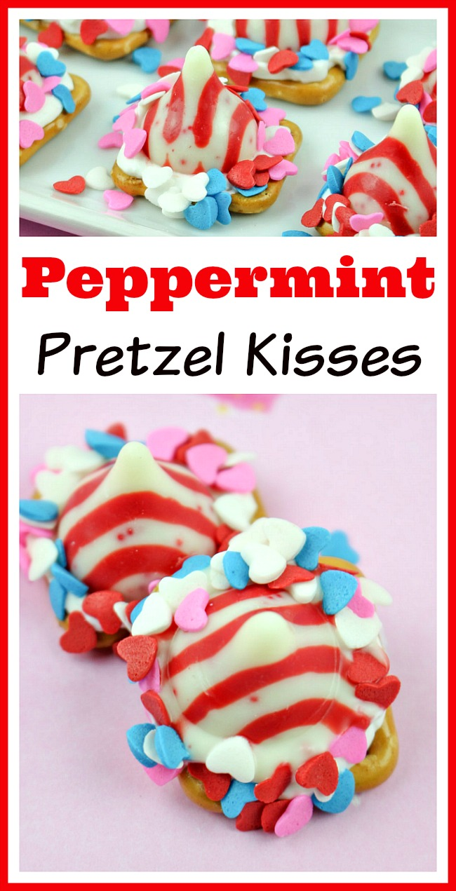 These peppermint pretzel kisses make wonderful party treats or a great food gift! They're quick and easy to make, and are full of chocolate and peppermint flavor! | recipe, dessert, snack, crunchy, homemade