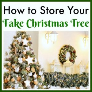 Storing Artificial Christmas Tree