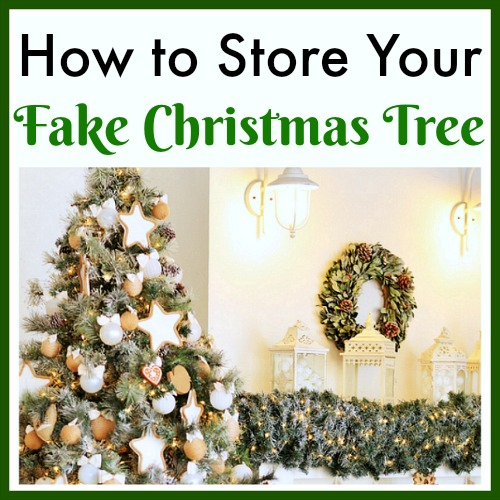 How to Store Your Fake Christmas Tree to Keep It in Great Condition- It's important to make sure you know how to store your fake Christmas tree! Otherwise it could become damaged, or even turn yellow or brown! | artificial Christmas tree, Christmas decoration storage