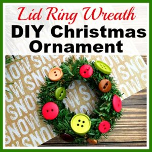 Mini Mason Jar Lid Ring Wreath- DIY Christmas Tree Ornament