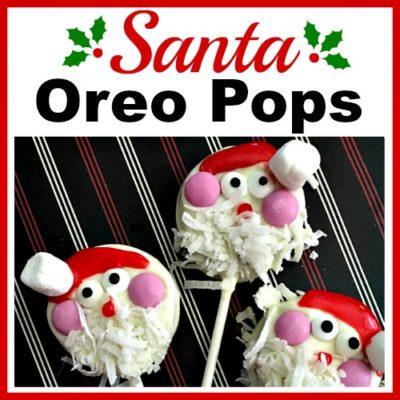 Santa Oreo Pops- An Easy Christmas Dessert Recipe