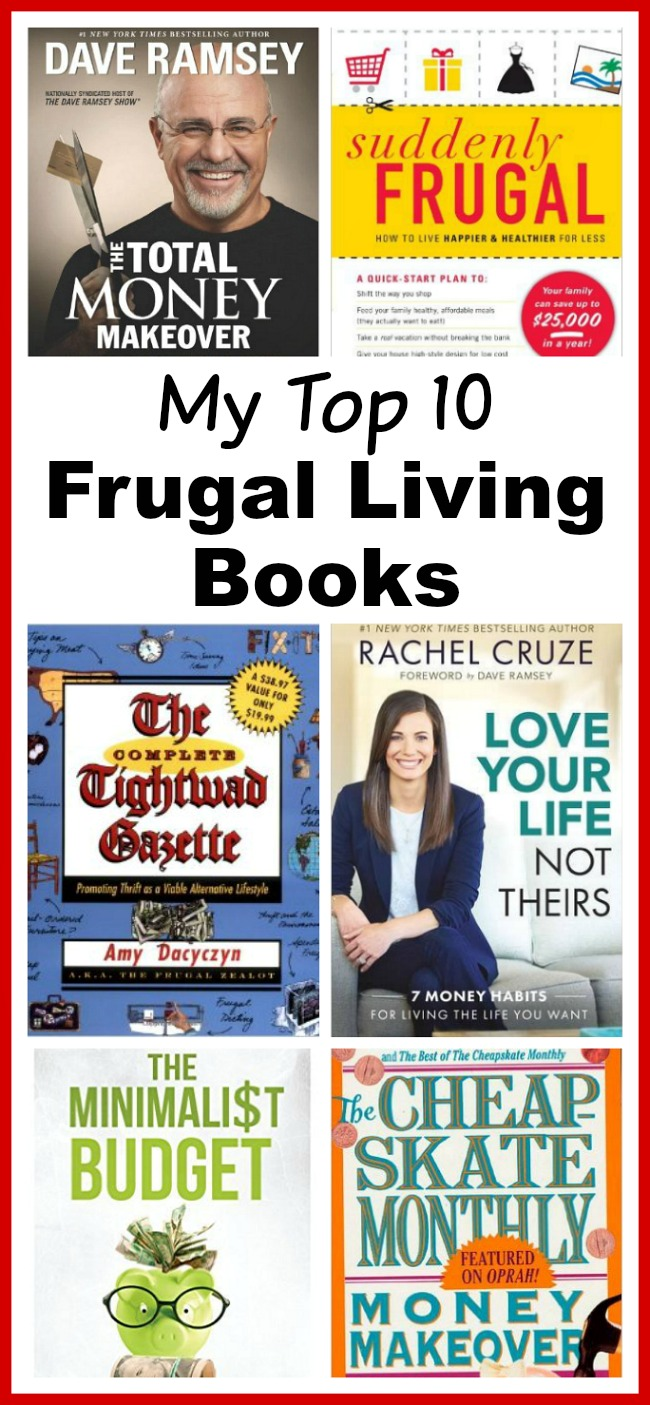 Top 10 Frugal Living Books- Want to change your finances? Then you need to read the right books! These 10 frugal living books will help you get control of your money! These make great gifts for college students, teenagers, and anyone wanting to improve their finances! | books, frugality, frugal, reading, ebooks money saving tips, #frugalLiving #saveMoney #ACultivatedNest