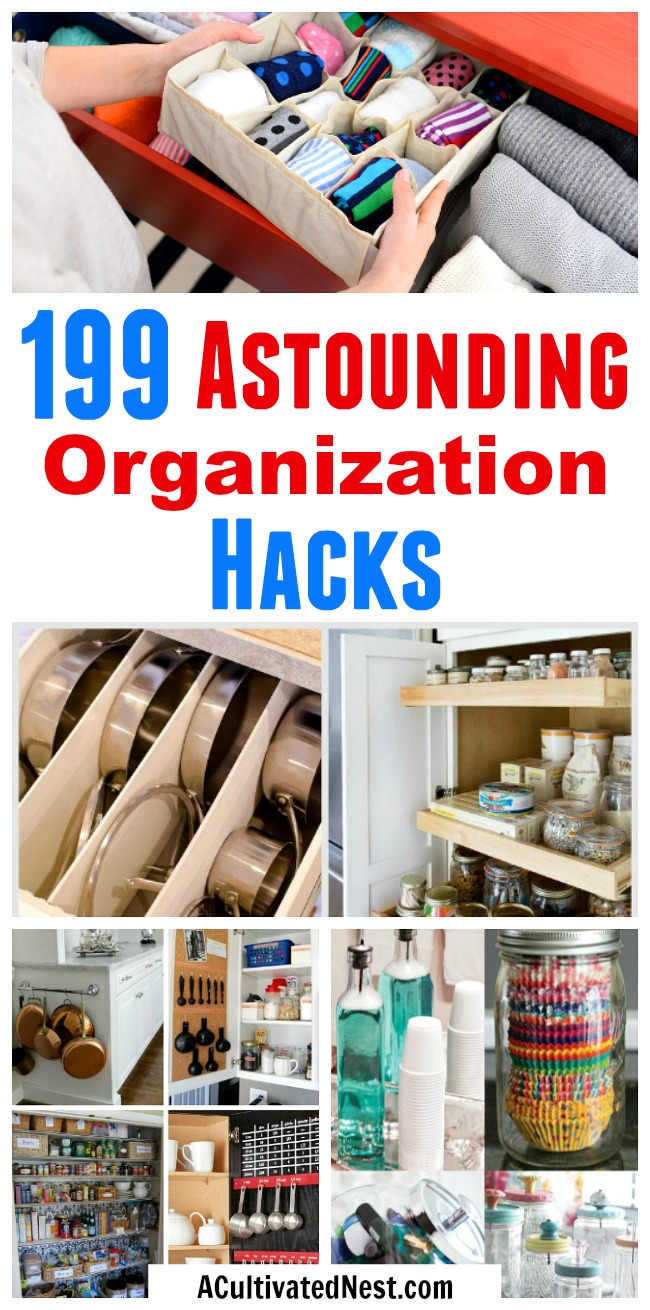 199 Home Organization Hacks