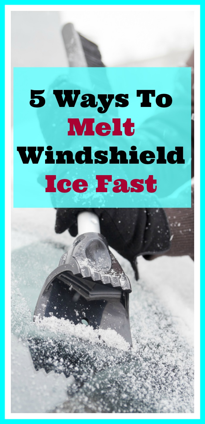 5 Ways To Melt Windshield Ice Fast - Winter is here and of course that means snow and ice are here too! Here are 5 ways to melt windshield ice fast so you can tackle that ice without worry. | How to defrost a windshield, melt ice on a windshield, how to remove frost from your windshield