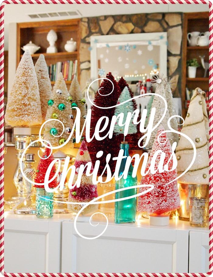 Merry Christmas - Bottle brush Trees