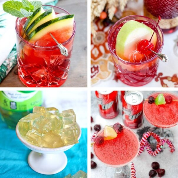 25 Delicious New Year's Eve Homemade Mocktails- Have a fun, family-friendly New Year's Eve party with some of these delicious New Year's Eve mocktail recipes! | homemade drink, New Year's drink, non-alcoholic drink, kid-friendly, New Year's Eve, #nonAlcoholic #mocktail #homemadeDrinks #NewYears #ACultivatedNest