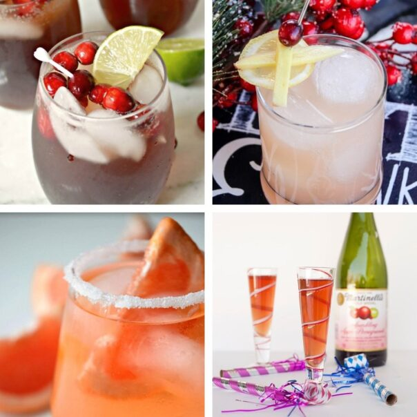 25 Delicious New Year's Eve Non-alcoholic Drinks- Have a fun, family-friendly New Year's Eve party with some of these delicious New Year's Eve mocktail recipes! | homemade drink, New Year's drink, non-alcoholic drink, kid-friendly, New Year's Eve, #nonAlcoholic #mocktail #homemadeDrinks #NewYears #ACultivatedNest