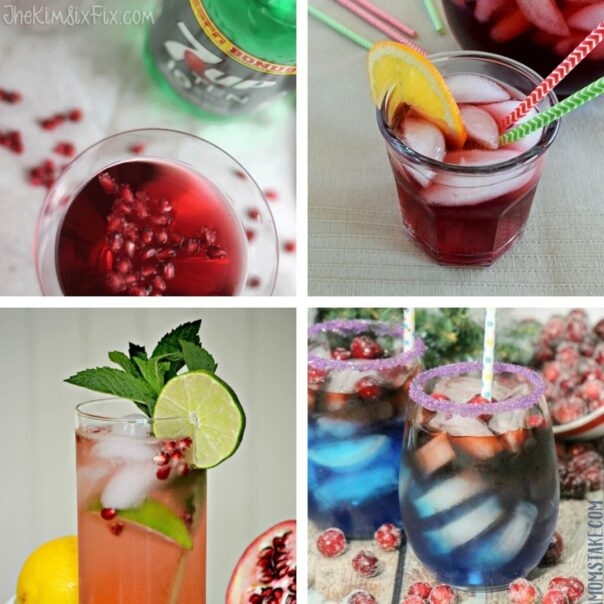25 Delicious New Year's Eve Family-friendly Drinks- Have a fun, family-friendly New Year's Eve party with some of these delicious New Year's Eve mocktail recipes! | homemade drink, New Year's drink, non-alcoholic drink, kid-friendly, New Year's Eve, #nonAlcoholic #mocktail #homemadeDrinks #NewYears #ACultivatedNest