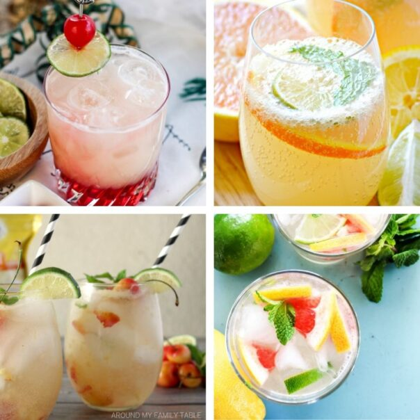 25 Delicious New Year's Eve Mocktails for Kids- Have a fun, family-friendly New Year's Eve party with some of these delicious New Year's Eve mocktail recipes! | homemade drink, New Year's drink, non-alcoholic drink, kid-friendly, New Year's Eve, #nonAlcoholic #mocktail #homemadeDrinks #NewYears #ACultivatedNest
