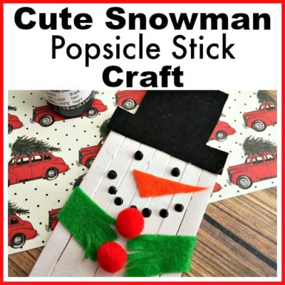 Cute Snowman Popsicle Stick Craft
