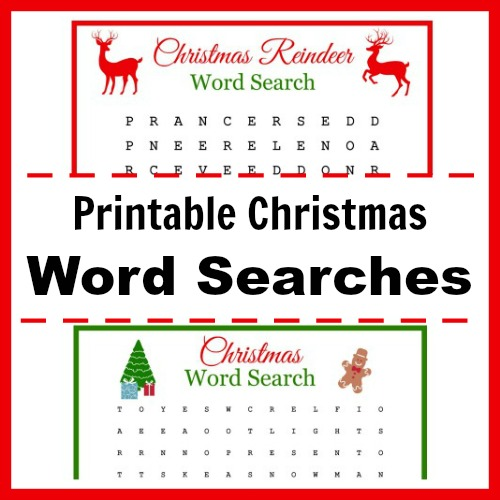 Free Printable Christmas Word Searches for Kids (and Adults!)- Keep your kids busy this Christmas with these fun free printable Christmas word searches! Even adults will enjoy doing these! | kids' activity, Christmas activity, holiday kids' activity