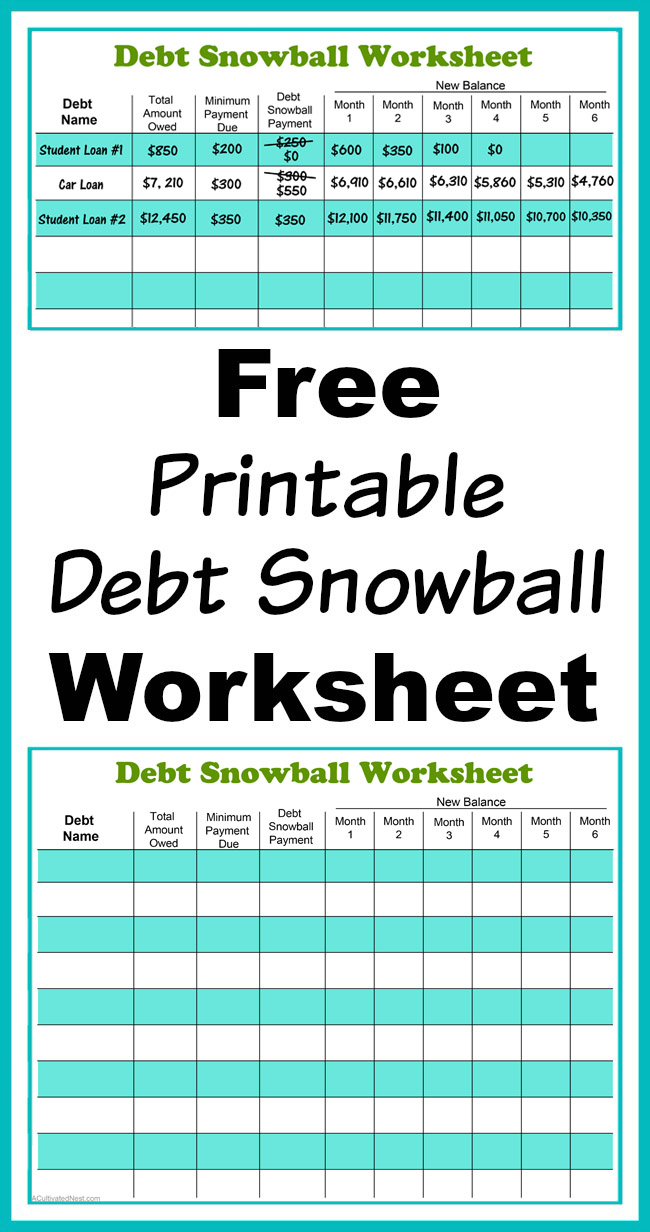 Uncategorized Debt Worksheet free printable debt snowball worksheet pay down your perhaps the best way to is