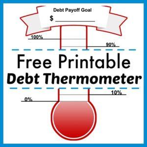 Free Printable Debt Thermometer