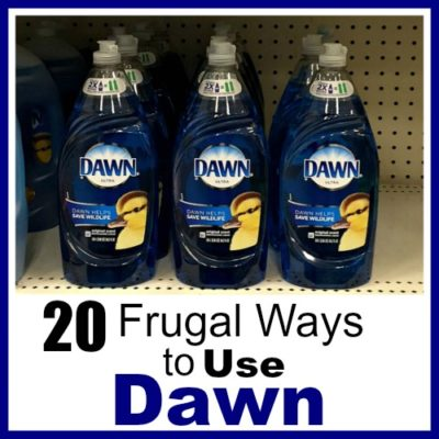 20 Frugal Ways to Use Dawn Dish Soap