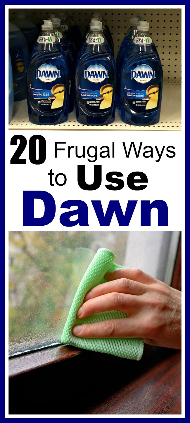 20 Frugal Ways to Use Dawn Dish Soap- Did you know that Dawn can be used for much more than just dishes? Check out these frugal ways to use Dawn dish soap! They can save you a lot of money! | money saving tips, money saving ideas, other uses for Dawn dish soap, homemade cleaner, #DIY #frugalLiving #ACultivatedNest