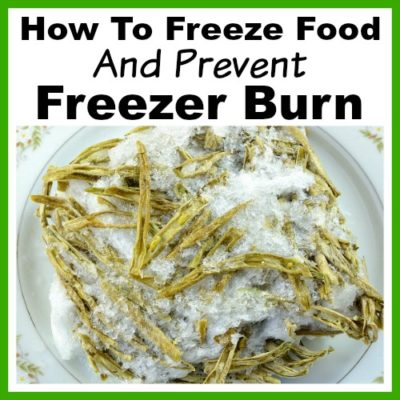 How to Freeze Food and Prevent Freezer Burn