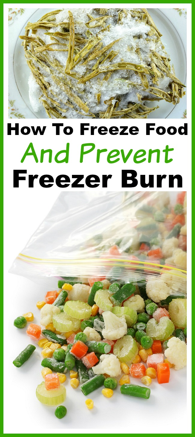 How to Freeze Food and Prevent Freezer Burn- If you let food get freezer burned, you're wasting money. Reduce your food waste and save money by learning how to freeze food and prevent freezer burn! | money saving tips and tricks, freezer burned food, effectively use your freezer, frugal living, frugality, reduce food waste, stretch your grocery budget