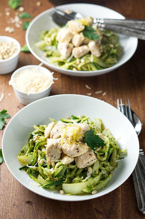 low chicken carb pesto zoodles calorie dinner recipes calories healthy delicious under food dinners recipe boundbyfood springtime meals meal tasty