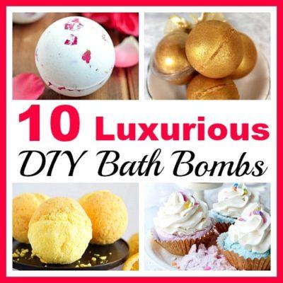 10 Luxurious DIY Bath Bombs