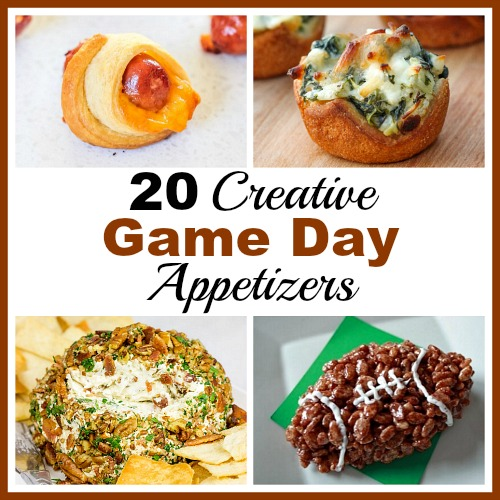 20 creative and easy to make game day appetizer ideas