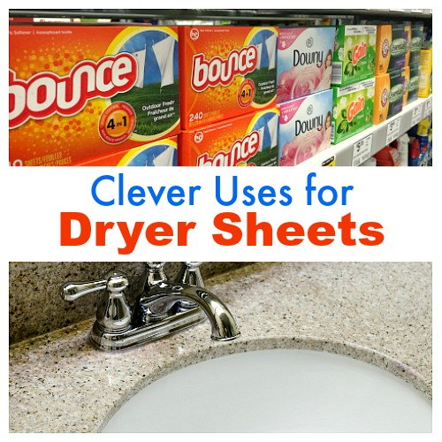 Handy Uses for Dryer Sheets- Dryer sheets can be used in more than just the dryer! For some clever dryer sheet hacks, check out these 12 handy uses for dryer sheets! | clever uses for fabric softener sheets, ways to use dryer sheets, how to use dryer sheets, unique uses for dryer sheets, cleaning hacks, cleaning tips, repurpose, #hacks #cleaningTips #frugalLiving #moneySavingTips #dryerSheets #ACultivatedNest