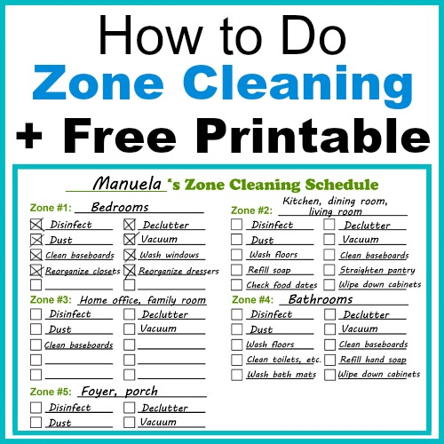 photo regarding Free Printable Cleaning Schedule referred to as How in the direction of Do Zone Cleansing + Free of charge Printable Zone Cleansing Routine