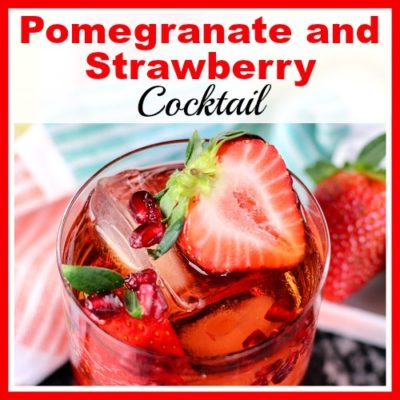 Pomegranate and Strawberry Cocktail