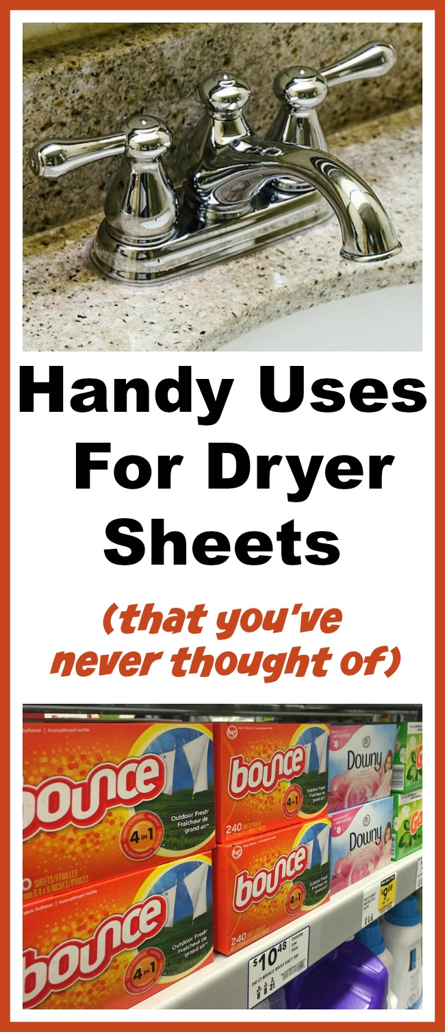 Handy Uses for Dryer Sheets- Did you know that dryer sheets can be used for more than just reducing static on your clothes? For some handy dryer sheet hacks, check out these 12 clever uses for dryer sheets! | clever uses for fabric softener sheets, ways to use dryer sheets, how to use dryer sheets, unique uses for dryer sheets, cleaning hacks, cleaning tips, repurpose, #cleaningTips #hacks #frugalLiving #moneySavingTips #dryerSheets #ACultivatedNest