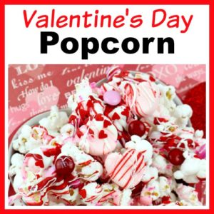 Valentine's Day Chocolate Drizzled Popcorn