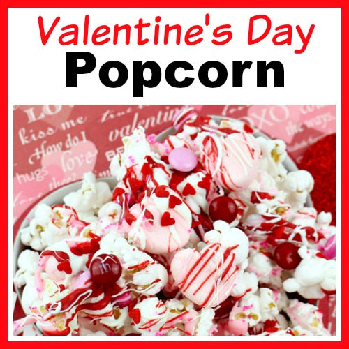 Valentines Day Chocolate Drizzled Popcorn An Easy