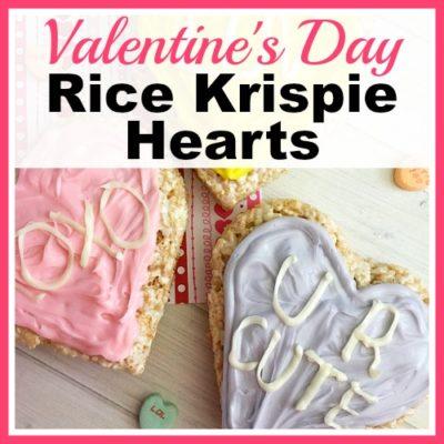Valentine's Day Rice Krispie Hearts