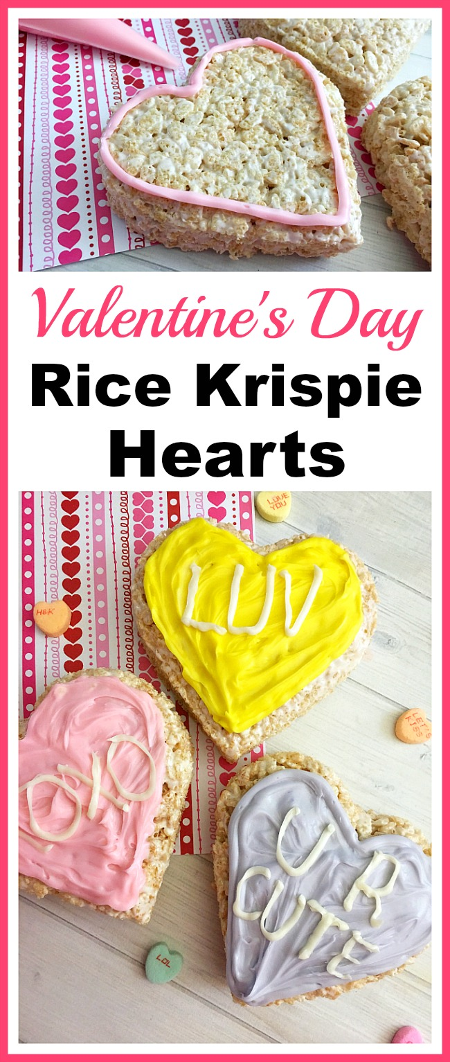 Valentine's Day Rice Krispie Hearts
