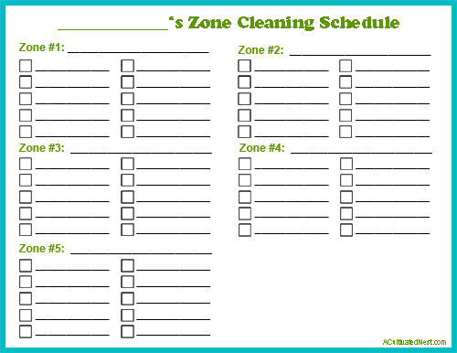 Free Printable Zone Cleaning Schedule- Zone cleaning can be a great way to easily keep your home clean! Find out how to do zone cleaning, and get my free printable zone cleaning schedule! | cleaning tips, easily keep your home clean, clean quickly, homemaking tips, blank cleaning schedule, print out a cleaning schedule, cleaning techniques