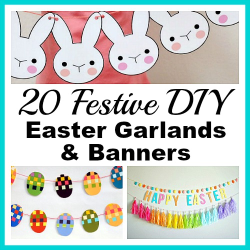 20 Festive DIY Easter Garlands and Banners- Frugal Decor ...