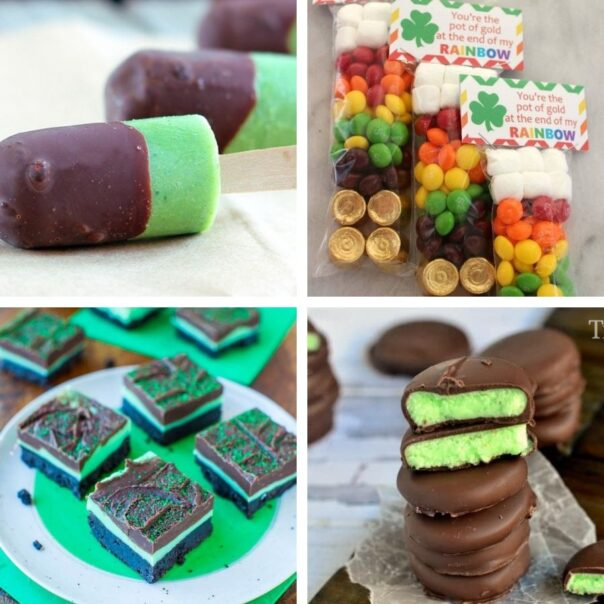 16 Delicious Saint Patrick's Day Treats for Kids- This St. Patrick's Day, treat your kids to some tasty alcohol-free desserts with fun green coloring! Check out these great St. Patrick's Day recipes for inspiration! | #StPatricksDay #SaintPatricksDay #greenDesserts #dessertRecipes #ACultivatedNest