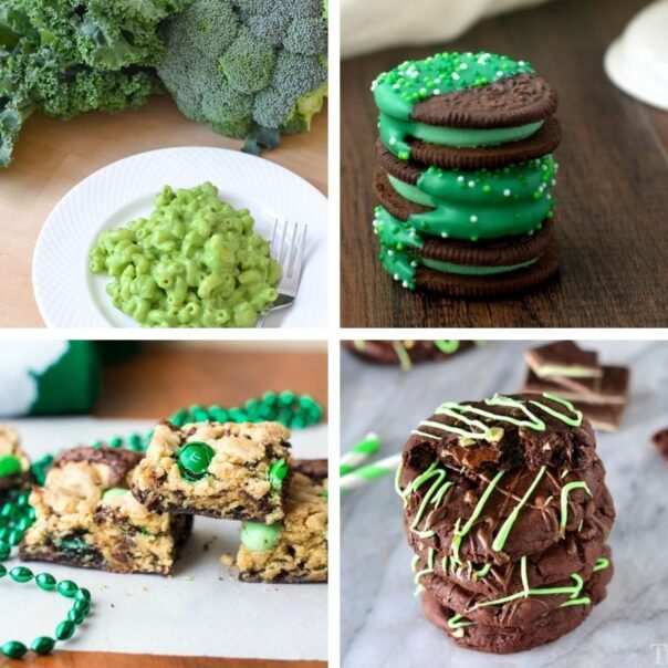 16 Delicious Saint Patrick's Day Desserts for Kids- This St. Patrick's Day, treat your kids to some tasty alcohol-free desserts with fun green coloring! Check out these great St. Patrick's Day recipes for inspiration! | #StPatricksDay #SaintPatricksDay #greenDesserts #dessertRecipes #ACultivatedNest