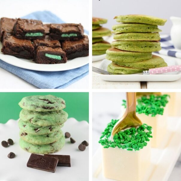 16 Delicious St. Patrick's Day Desserts for Kids- This St. Patrick's Day, treat your kids to some tasty alcohol-free desserts with fun green coloring! Check out these great St. Patrick's Day recipes for inspiration! | #StPatricksDay #SaintPatricksDay #greenDesserts #dessertRecipes #ACultivatedNest
