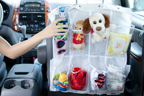 10 Clever Car DIY Organizers- Tired of your car being unorganized? Getting it neat and tidy with these clever car organizing hacks and DIYs! | how to organize your car when you have kids, car organization DIYs, car organizing tips, #organizing #carOrganization #organization #organizingTips #ACultivatedNest