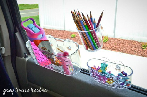 10 Clever Car Organizing Ideas- Tired of your car being unorganized? Getting it neat and tidy with these clever car organizing hacks and DIYs! | how to organize your car when you have kids, car organization DIYs, car organizing tips, #organizing #carOrganization #organization #organizingTips #ACultivatedNest