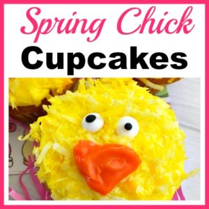 Cute Spring Chick Cupcakes