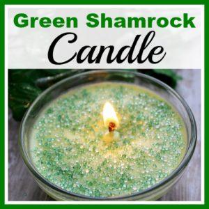 DIY Green Shamrock Candle