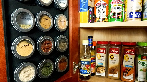 diy magnetic dollar store spice rack if your spice cabinet is you need