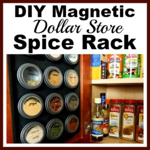 DIY Magnetic Dollar Store Spice Rack